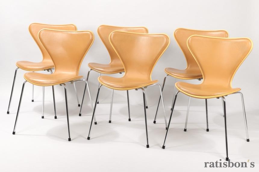 Ratisbon S Set Of Six Fritz Hansen Series 7 Dining Chairs Arne